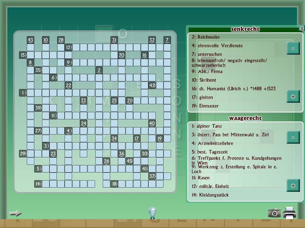 Erwartet Kreuzworträtsel-Hinweis