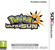 Packaging of Pokémon Ultra Sun [3DS]
