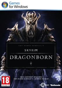 Packaging of The Elder Scrolls V: Skyrim DLC: Dragonborn [PC]