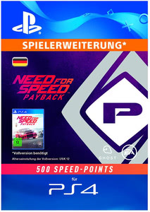 Verpackung Von Need For Speed Payback 500 Points DLC PS4