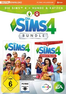 Verpackung von Die Sims 4 + Hunde & Katzen Bundle (Code only) [PC / Mac]