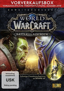 Verpackung von World of WarCraft Battle for Azeroth Vorverkaufs Box [PC]