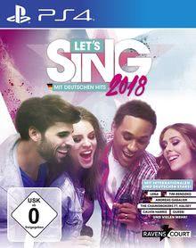 Verpackung von Let's Sing 2018 mit Deutschen Hits + 2 Mics [PS4]