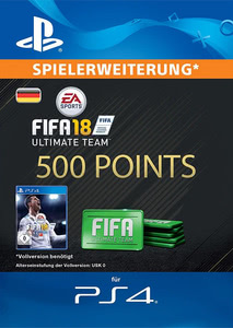 Verpackung von FIFA 18 500 FUT Points Pack - Ultimate Team [PS4]