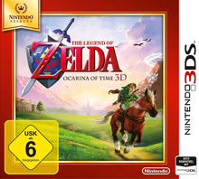 Verpackung von The Legend of Zelda: Ocarina of Time 3D Selects [3DS]