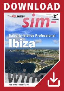 Packaging of Prepar3D V4 Balearic Islands professional - Ibiza [PC]