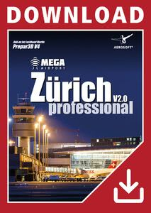 Packaging of Prepar3D V4 Mega Airport Zurich V2.0 professional [PC]