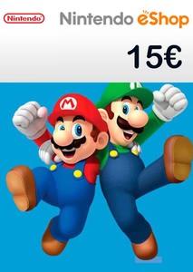 Verpackung von Nintendo eShop Guthaben Code 15 Euro [3DS / Wii U / Switch]