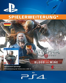 Verpackung von The Witcher 3: Wild Hunt Blood and Wine [PS4]