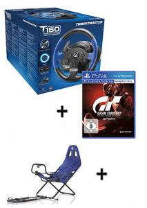 Verpackung von Lenkrad TM T150 RS inkl. Playseat Challenge (Sony Lizenz) & GT Sport Gran Turismo Sport [PS4]