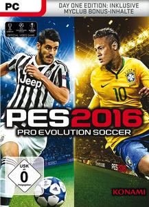Verpackung von Pro Evolution Soccer 2016 Day One Edition [PC]