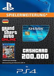 Verpackung von Grand Theft Auto V (GTA): CashCard Tiger Shark [PS4]