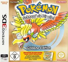 Verpackung von Pokémon Gold (Code in Box) [3DS]