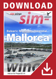 Packaging of Prepar3D V4 Balearic Islands professional - Mallorca [PC]