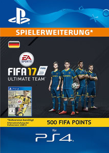 Verpackung von FIFA 17 500 FUT Points Pack - Ultimate Team [PS4]