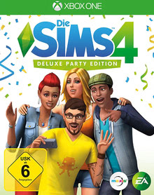 Verpackung von Die Sims 4 Deluxe Party Edition [Xbox One]