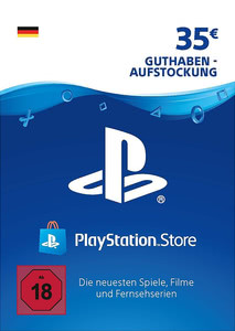 Verpackung von PlayStation Network Code 35 Euro [PS3 / PS4]
