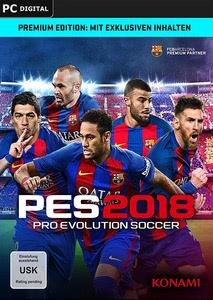 Verpackung von Pro Evolution Soccer 2018 [PC]