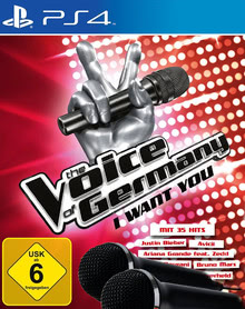 Verpackung von The Voice of Germany - I want you inkl. 2 Mikros [PS4]