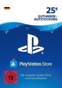 Verpackung von PlayStation Network Code 25 Euro [PS3 / PS4]