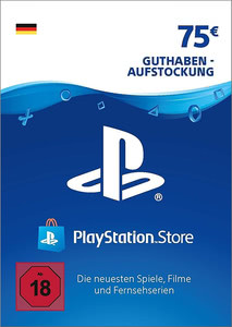 Verpackung von PlayStation Network Code 75 Euro [PS3 / PS4]