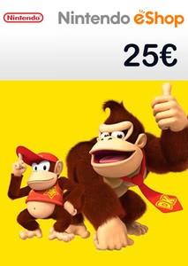 Verpackung von Nintendo eShop Guthaben Code 25 Euro [3DS / Wii U / Switch]