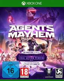 Verpackung von Agents of Mayhem Day One Edition [Xbox One]