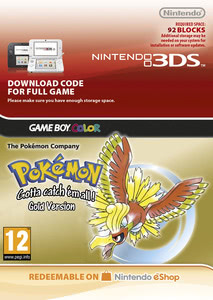 Packaging of Pokémon Gold [3DS]