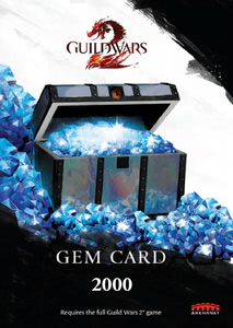 Verpackung von Guild Wars 2 Gem Card (2000 Edelsteine) [PC]