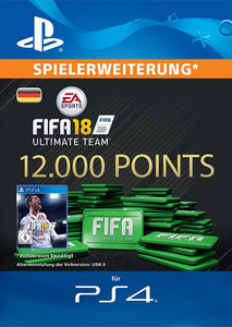 Verpackung von FIFA 18 12000 FUT Points Pack - Ultimate Team [PS4]
