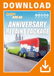 Packaging of Fernbus Simulator Anniversary Repaint Package [PC]