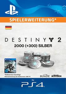 Verpackung von Destiny 2 2000 + 300 Silber [PS4]