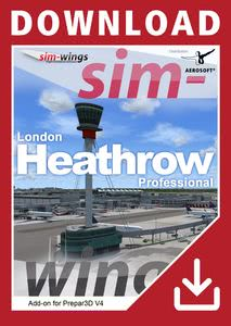 Verpackung von Prepar3D V4 Mega Airport London Heathrow professional [PC]