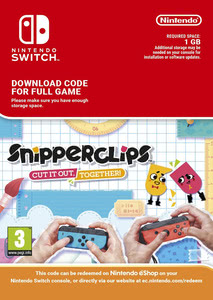 Packaging of Snipperclips: Cut it out - together [Switch]