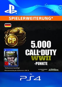 Verpackung von Call of Duty WWII 5000 Points DLC [PS4]