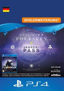 Verpackung von Destiny 2 Forsaken - Annual Pass  - deutsches PSN-Konto [PS4]