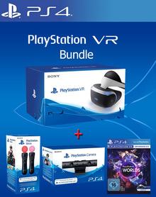 Verpackung von Sony PlayStation VR Bundle inkl. Kamera, 2xMove Controller + VR Worlds [PS4]