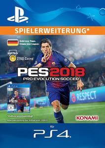 Verpackung von Pro Evolution Soccer 2018 myClub Coin 2150 [PS4]