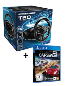 Verpackung von Project CARS 2 inkl. Lenkrad TM T80 Racing Wheel [PS4]
