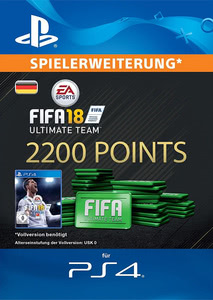 Verpackung von FIFA 18 2200 FUT Points Pack - Ultimate Team [PS4]