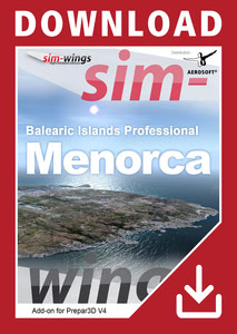 Packaging of Prepar3D V4 Balearic Islands professional - Menorca [PC]