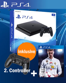 Verpackung von Sony PlayStation 4 1TB + Fifa 18 inkl. 2. Controller [PS4]