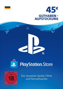 Verpackung von PlayStation Network Code 45 Euro [PS3 / PS4]