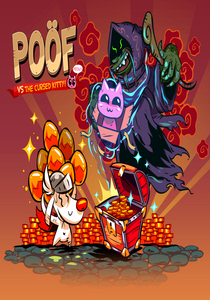 Packaging of Poöf vs The Cursed Kitty [PC]