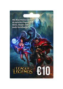 Verpackung von League of Legends Guthaben 10 Euro [PC / Mac]