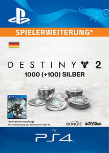 Verpackung von Destiny 2 1000+100 Silber [PS4]