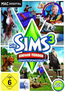 Verpackung von Die Sims 3 Einfach tierisch Add-On [Mac]