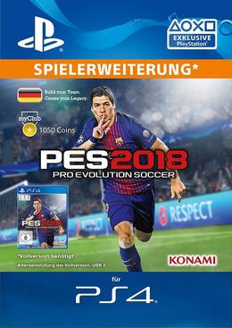 Pro Evolution Soccer 2018 Myclub Coin 1050 Ps4 Psn Code Für