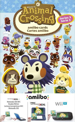 Animal Crossing amiibo Karten 3 Stück (Serie 3) [Wii U / 3DS Box