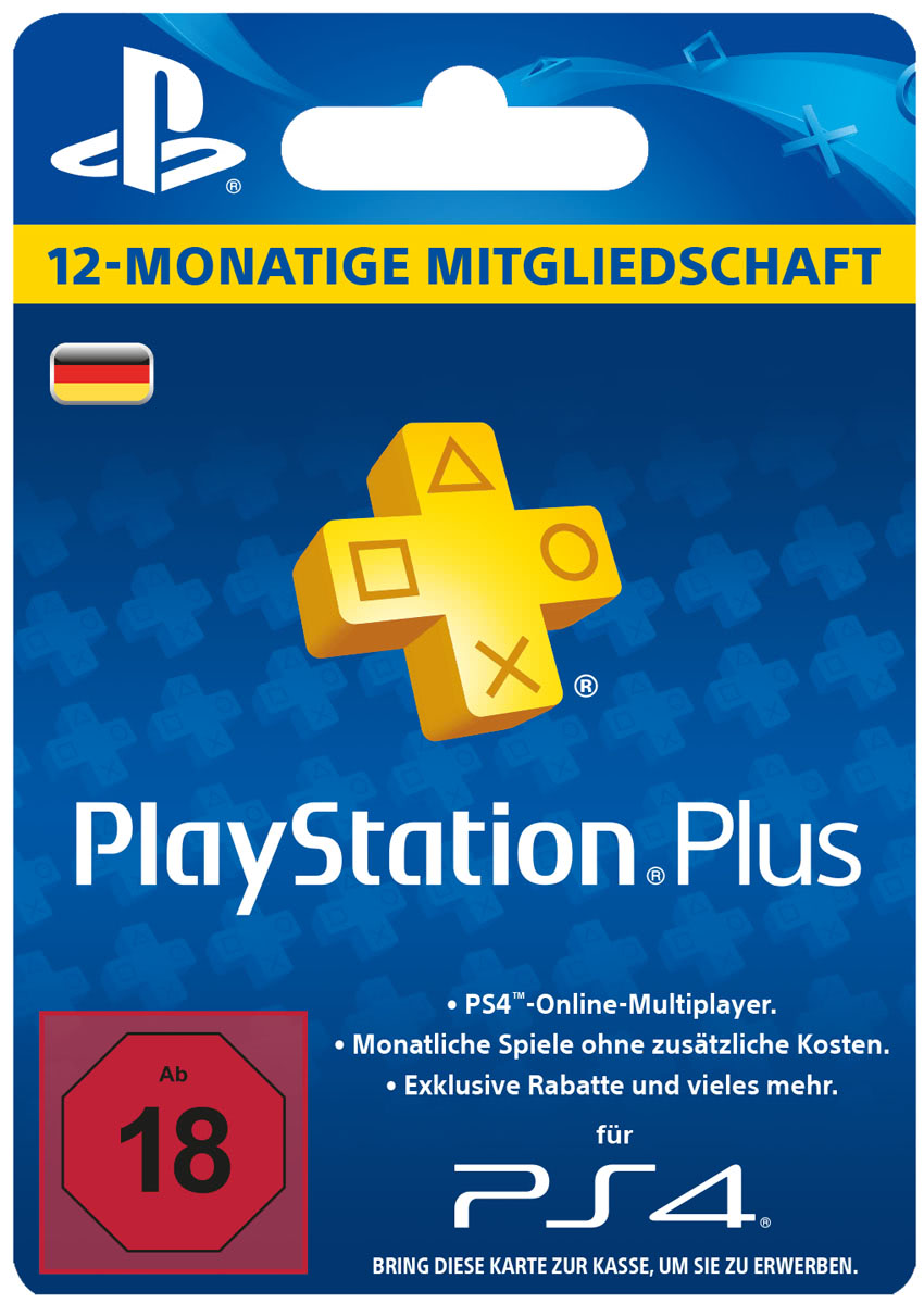 playstation plus mitgliedschaft 12 monate ps plus card. Black Bedroom Furniture Sets. Home Design Ideas